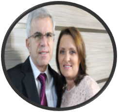 Robinson Amorim e esposa